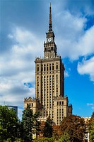 Poland, Masovian Voivodeship, Warsaw, City Center, Palace of Culture and Science.