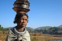 Woman belonging to the Gadaba tribe ( Odisha state, India).