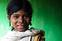 Girl belonging to the Dongriya Khond tribe ( Odisha state, India).