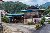Bidayuh houses in Kampung Tarat, Serian, Sarawak, Malaysia