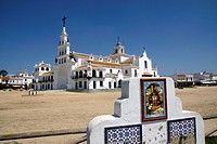 El Rocio (Huelva) Spain. Ermita del Rocio in the village of Almonte.