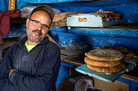 Chefchaouen, Morocco. Town Baker, in the Medina.