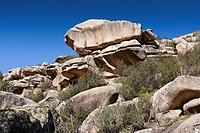 The Tranco cliffs in the Pedriza. Regional Park del Ato Manzanares. Manzanares el Real. Madrid. Spain. Europe.