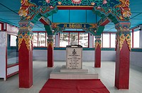 Indian Army memorial to Jaswant Singh, a hero of the 1962 border conflict with China, in Tawang, Arunachal Pradesh.