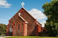 Historic stone church in Nhill, a farming community in the Wimmera region of western Victoria, Australia.