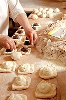 Professional Bakery - Baker Making Sweet Pastry.