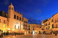 Piazza Mercantile at Dusk, Bari, Italy.
