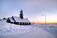 Zion Church of Ilulissat, Greenland.