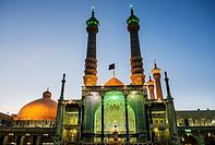 Iwan of Fatima Masumeh Shrine, Shiah Islam holy place in Qom city, capital of Qom Province of Iran.