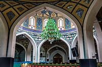 Interior of holy shrine of Imamzadeh Helal Ali (Hilal ibn Ali) in Aran va Bidgol, Isfahan Province in Iran.