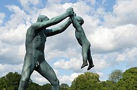 Vigeland Sculpture Park by sculptor Gustav Vigeland (1869-1943) with more than 200 sculptures in bronze, granite and cast iron, Oslo, Norway