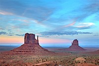 Monument Valley at blue hour, Arizona, United States.
