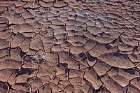 Detail, dry cracked ground, Valle de la Luna (Valley of the Moon ) near San Pedro de Atacama, Atacama desert. Region de Antofagasta. Chile.