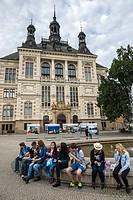 Neo-Renaissance building of West Bohemia Museum in Pilsen city, Czech Republic.