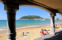 Bay of La Concha.San Sebastián.Donostia.Guipúzcoa province.Euskadi.País Vasco.Spain