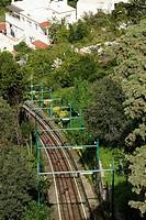 Island of Capri (Italy). Funicular rails of the island of Capri.