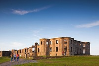 UK, Northern Ireland, County Londonderry, Downhill, Downhill Demesne, grand house ruins, dusk.