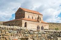 10th century Christian Prince's Basilica overlooking Uplistsikhe cave city, the Lord's fortress, Gori, Shida Kartli district, Georgia.