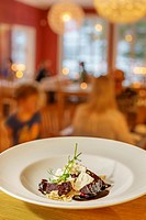 Dessert, Sorbyn Hotel, Lapland Sweden.