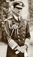 Admiral of the Fleet Roger John Brownlow Keyes, 1st Baron Keyes,1872- 1945. British admiral and military hero. From The Story of 25 Eventful Years in ...