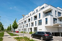 New apartment buildings at Adlershof Science and Technology Park in Berlin Germany.