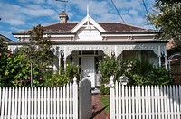 Classic late-Victorian era double-fronted timber home in suburban Elsternwick, Melbourne, Australia.