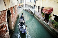 Italy, Veneto, Venice, listed as World Heritage by UNESCO, gondola ride on canals