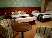 A hotel room in Ballaghaderreen, County Roscommon, Ireland.