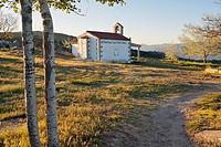 San Cristobal hermitage in Navalmoral pass. Avila. Castilla Leon. Spain. Europe.