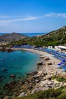 Ladiko Bay, Rhodes Island, Greece.