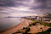 Beachfront Hotels, Kallithea Bay, Rhodes, Greece.