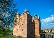 loevestein castle at gelderland, holland