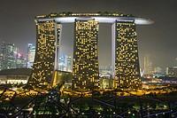 Marina Bay Sands hotel at night, Singapore.