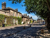 Houses and Market Place in the Village of Ripley North Yorkshire England.