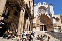 Cathedral of Tarragona, Roman Catholic church in Tarragona, Catalonia, Spain. The edifice is located in a site previously occupied by a Roman temple d...