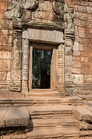 A Temple doorway at ancient Ta Prohm.