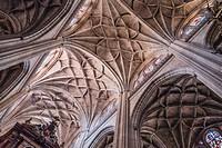 The crossing of naves of Cathedral Nuestra Senora de la Asuncion y de San Frutos de Segovia, take in Segovia, Spain.