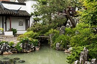 Dr Sun Yat-Sen Classical Chinese Garden, in Chinatown, Vancouver, BC, Canada.