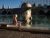 Sculptures of Manolo Valdes in the City of Sciences, Valencia, Spain