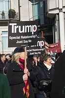 Women's March on London, Anti-Trump protest, London, UK. 21. 01. 2017.