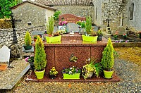 cemetery at Ste Marie Church, Cogulat, Dordogne Department, New Aquitaine, France.