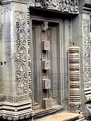 Banteay Srei temple. Dedicated to Hindu God Shiva. Near Angkor, Cambodia.