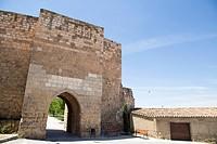 Ancient walls in Almazan in Soria province Castilla Leon Spain.