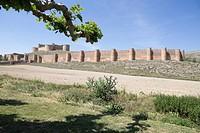 Berlanga de Duero, Soria, Castile-leon, in the Spanish meseta on June 10, 2017.