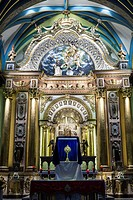 Church and convent of Santo Domingo (16th century) in Lima, Peru.Altar of the peruvian Saints.