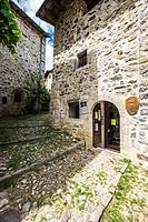 Museo dei Tasso e della Storia postale museum in the medieval village of Cornello dei Tasso in Bergamo province in the north of Italy Europe.