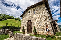 Medieval village of Cornello dei Tasso in Bergamo province in the north of Italy Europe.