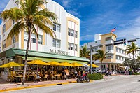 Art Deco Ocean Drive in Miami Beach Florida.
