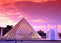 Pyramid of Louvre Museum. Paris. France