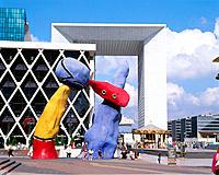 Joan Miró sculpture. La Defense. Paris. France